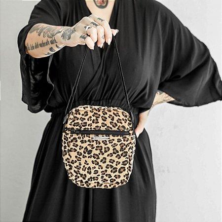 Bolsa Shoulder Bag Animal Print Imitação Pelo