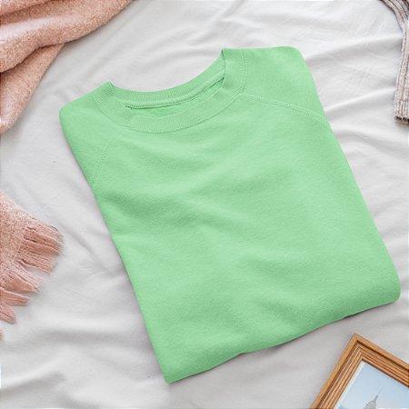 Moletom Peluciado cor lisa Verde