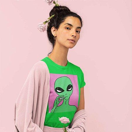 Camiseta Verde Alien