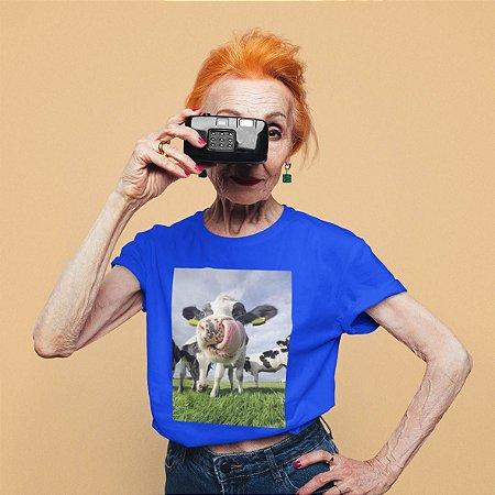 Camiseta Azul Vaca