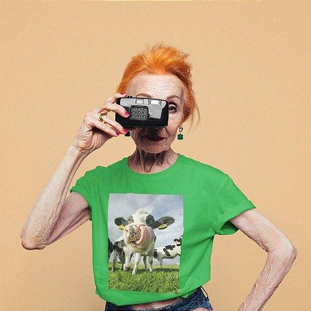 T-Shirt Verde Vaca