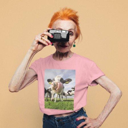 T-Shirt Rosa Vaca