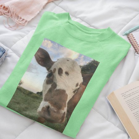 Moletom Peluciado Verde  Vaca