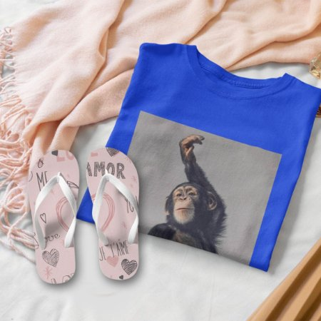 Combo Macaco: T-shirt  + Chinelo de dedo