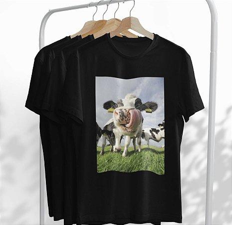 T-Shirt Preta Vaca