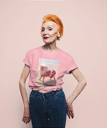 T-Shirt Rosa Porco