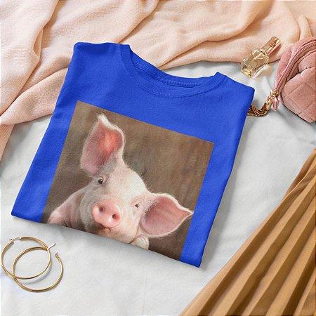 T-Shirt Azul Porco