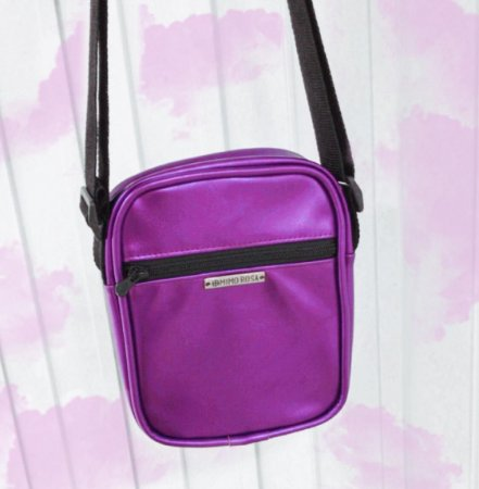 Bolsa Shoulder Bag Unissex Lilás Metalizada