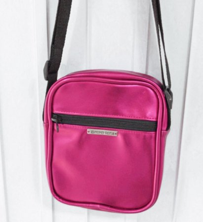 Bolsa Shoulder Bag Unissex Pink Metalizada
