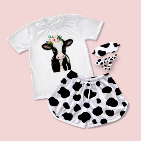 Conjuntinho Pijama Vaca
