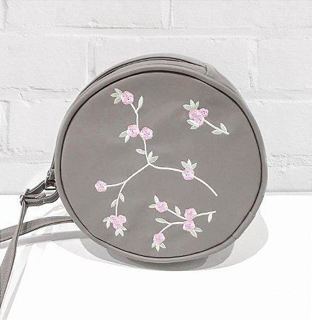 Bag Redonda Pólvora  Fashion Floral