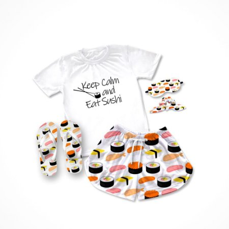Conjunto Pijama Sushi+ Chinelo de dedo