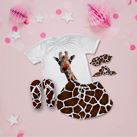 Conjunto Pijama Girafa + Chinelo de dedo