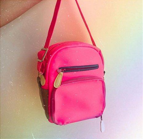 Bolsa Shoulder Bag Colors Pink Neon
