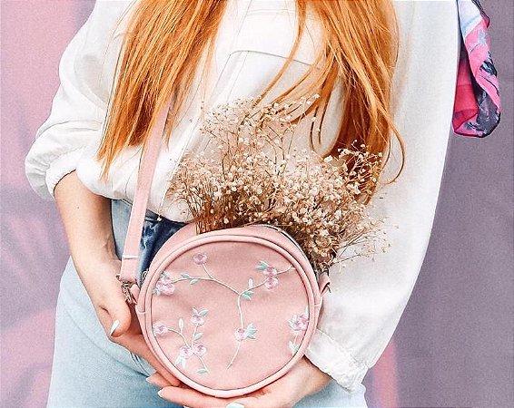 Bolsa Redonda Rosê Fashion