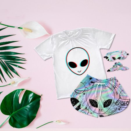 Conjuntinho Pijama Alien