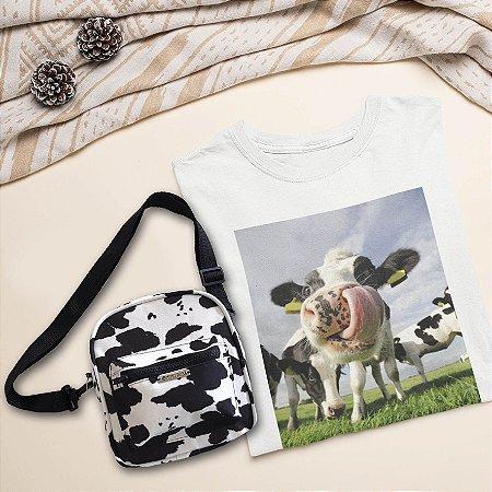 COMBO: T-Shirt Vaca+ Shoulder Bag Vaca