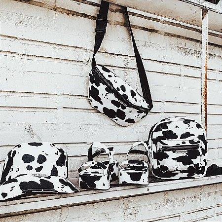 Combo A loka da Vaquinha:  Sandália Vaca + Shoulder Bag + Bucket Hat + Pochete