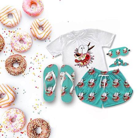 Conjunto Pijama Covarde + Chinelo de dedo