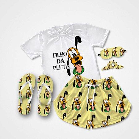 Conjunto Pijama Filho da Pluta + Chinelo de dedo
