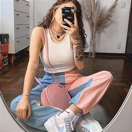 Bolsa Redonda Rosa