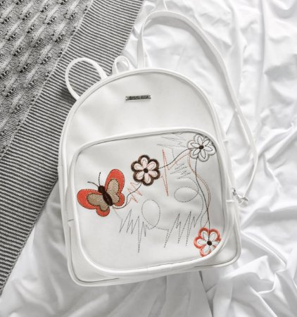 Mochila  Branca Butterfly