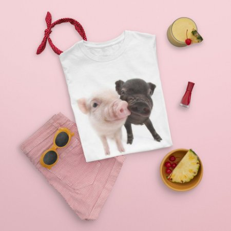 Camiseta Branca Porco