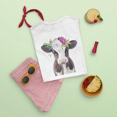 Camiseta Branca Vaca