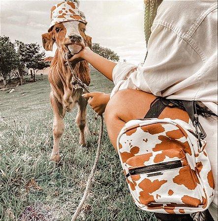 Chapéu Bucket Hat Vaca Marrom