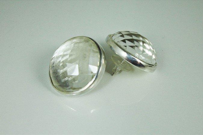 Brincos Discoball de Cristal