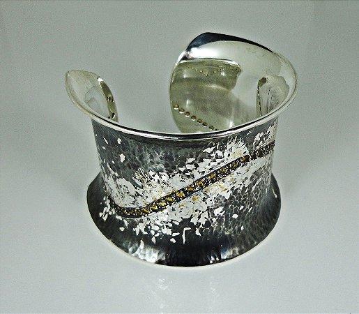Bracelete em Prata 950 com Citrinos | Único