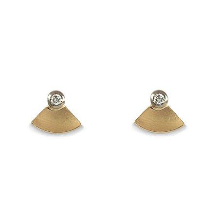 Brincos em Ouro Amarelo 18k e Diamantes | Sob Medida
