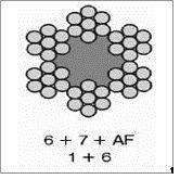 Cabo de Aço Polido ou Galvanizado - Composição 6x7 - Alma do Fibra