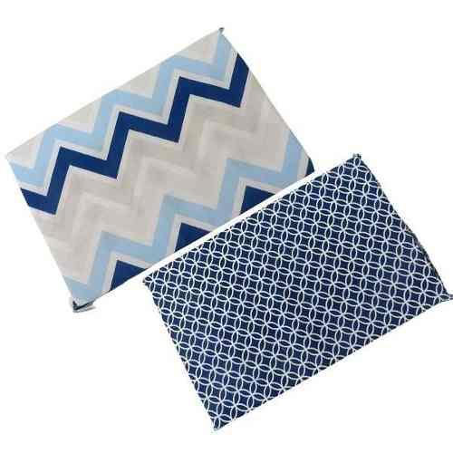 Travesseiro Anti Sufocante Bebê Estampado - Azul Marinho