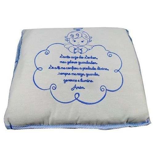 Travesseiro Bebê Anjinho Da Guarda - Azul