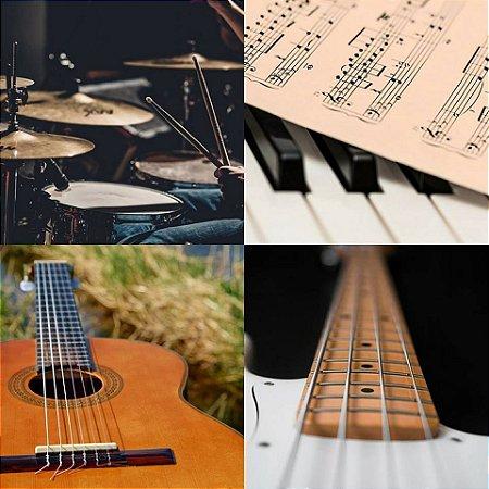 Aulas de Contrabaixo,Violão,Guitarra,Teclado,Canto,Bateria Plano Semestral Presencial ou Skype
