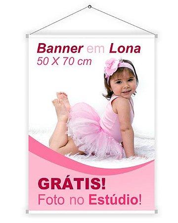 Banner 50x70 cm (Foto no Estúdio PB grátis)