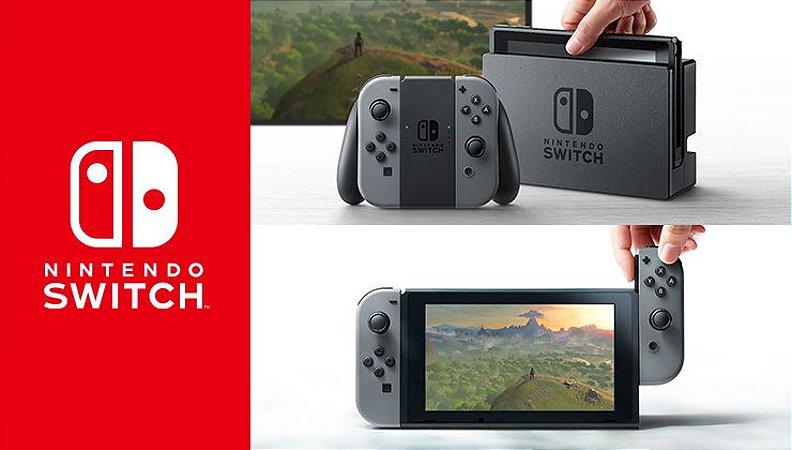 Console Nintendo Switch Preto/Cinza