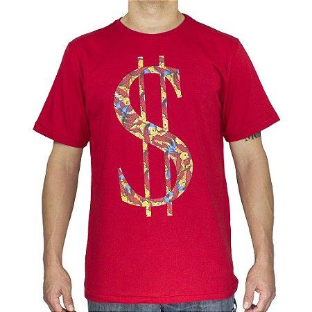 Camiseta Black Blue Cifrão Vermelha