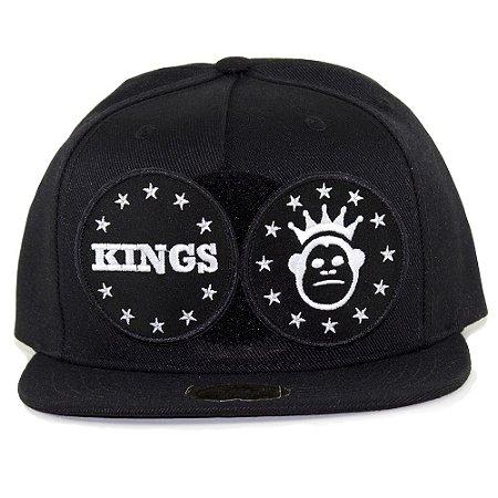 Boné Kings Snapback Preto Velcro