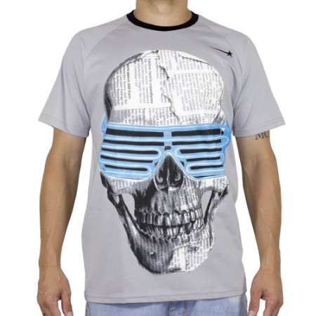 Camiseta Hashtag Rocky Class Caveira Neon