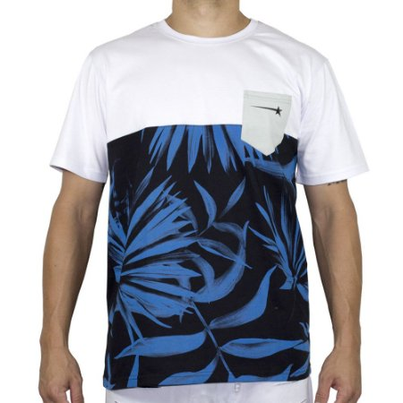 Camiseta Hashtag Floral Azul