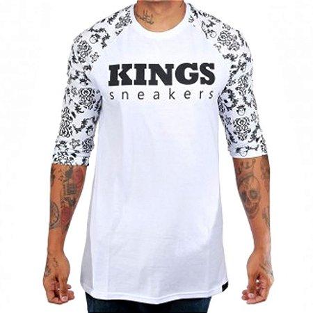 Camiseta Kings Raglan Mosaic Branca