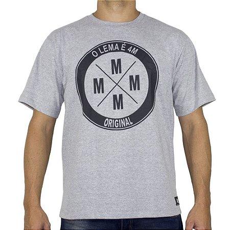 Camiseta 4M Logo Cinza