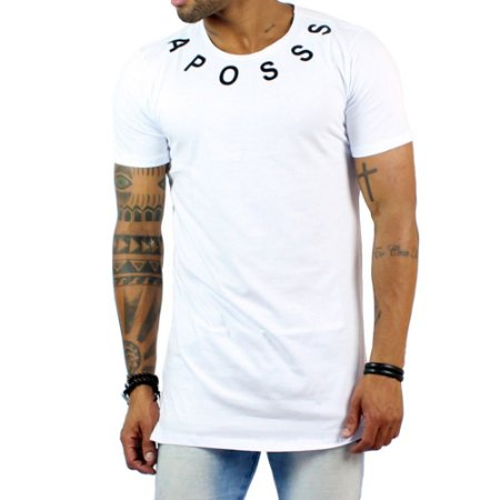 Camiseta Aposss Long Arched Branca