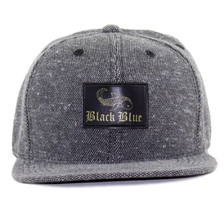 Boné Black Blue Bordado Cinza Aba Reta