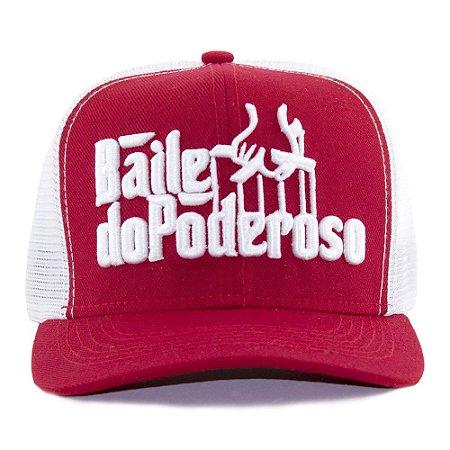 Boné 4M Baile do Poderoso Redinha Vermelha e Branco