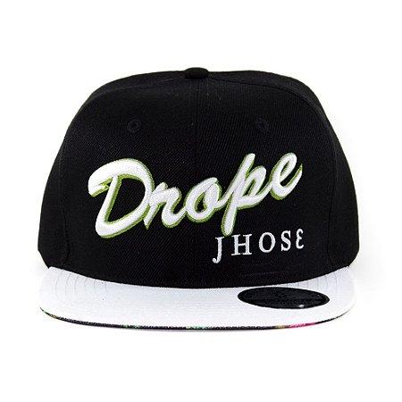 Boné Drope Jhose Snapback Preto / Branco