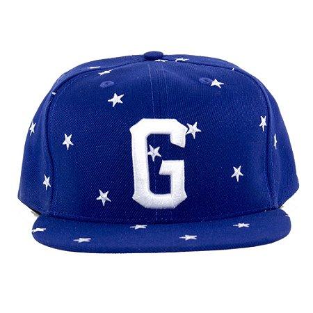 Boné G-Style Snapback Estrelas Azul