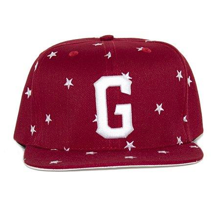 Boné G-Style Snapback Estrelas Vermelho